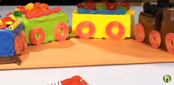 Train Birthday Cake Decorating Idea